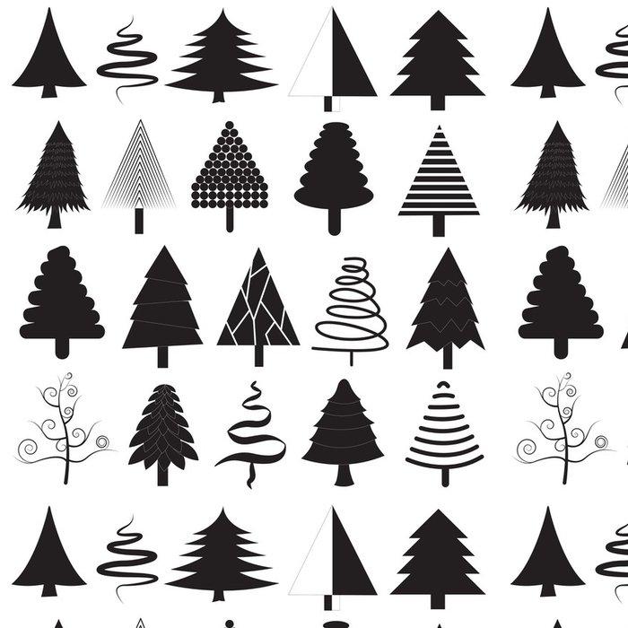 Tapeta Pixerstick Vánoční stromky vektorové kolekce - Jídla
