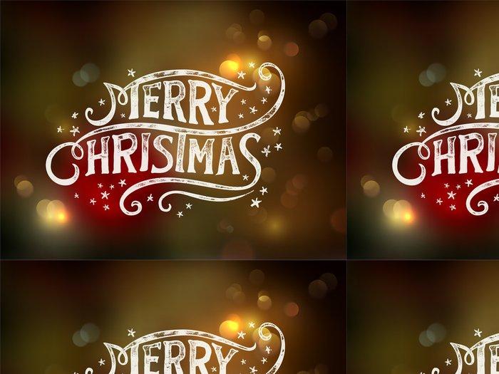 Tapeta Pixerstick Vánoční typografie, písmo - Vánoce