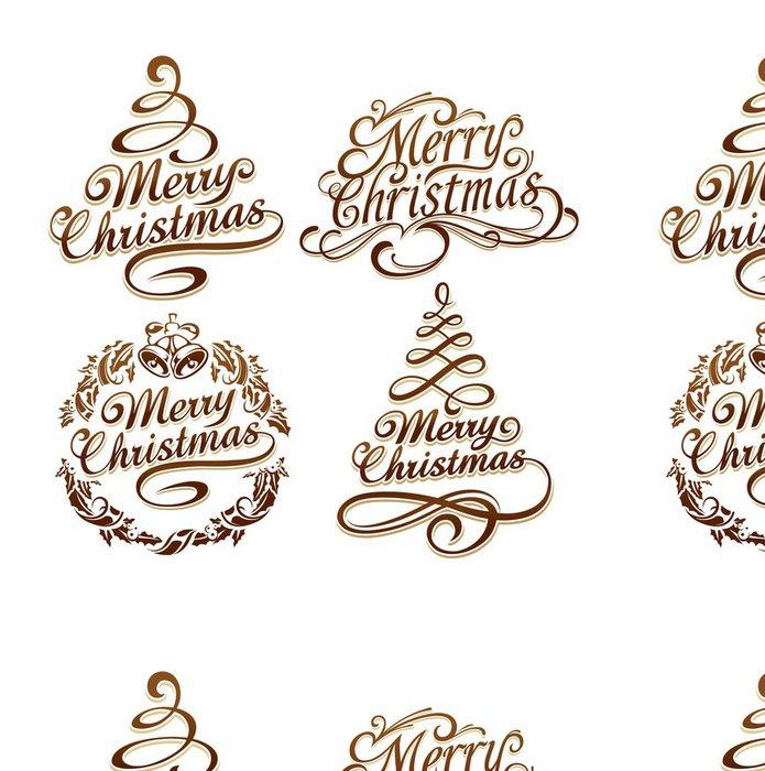 Vinylová Tapeta Vánoční typografie set - Značky a symboly