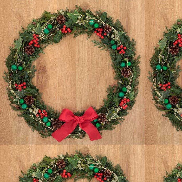Tapeta Pixerstick Vánoční věnec - Mezinárodní svátky