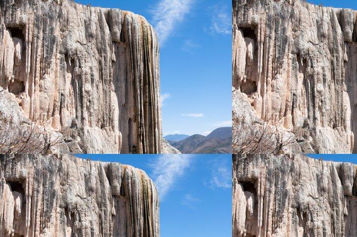 Tapeta Pixerstick Vařit vodu, Zkamenělý vodopád v Oaxaca (Mexiko) - Amerika