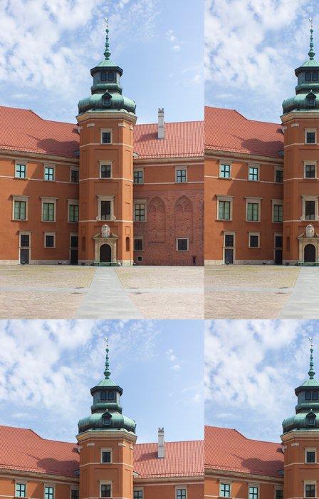 Tapeta Pixerstick Varšava, Polsko. Staré Město - Vnitřní náměstí slavného královského hradu. - Evropská města
