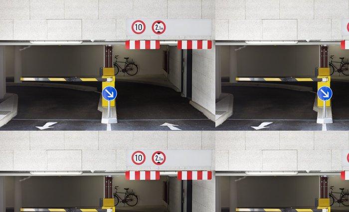 Tapeta Pixerstick Vchod rampa do podzemních garáží. - Život