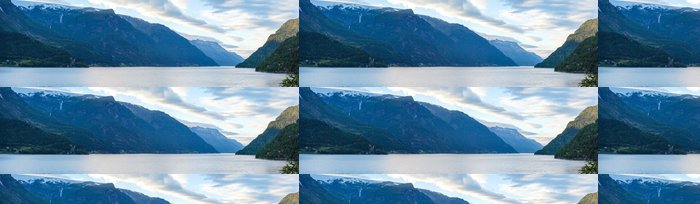 Tapeta Pixerstick Večer Hardangerfjord panorama. - Roční období