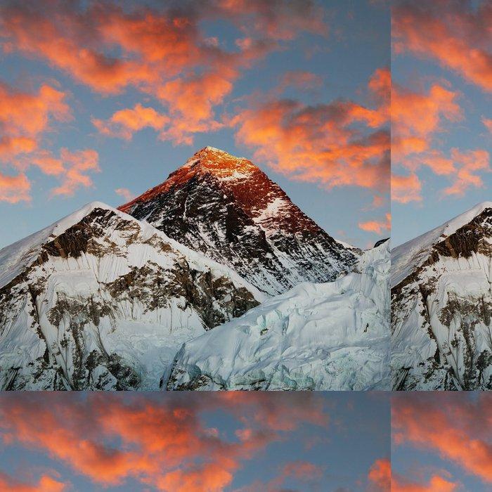 Tapeta Pixerstick Večerní barevný pohled na Everest - Témata