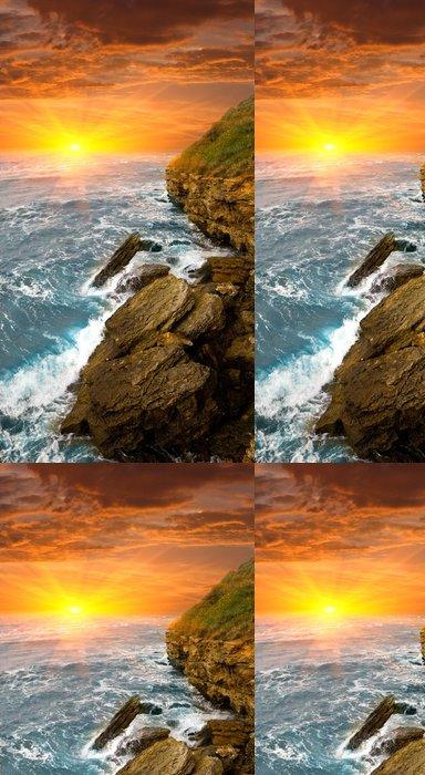 Vinylová Tapeta Večerní scéna na moři - Voda