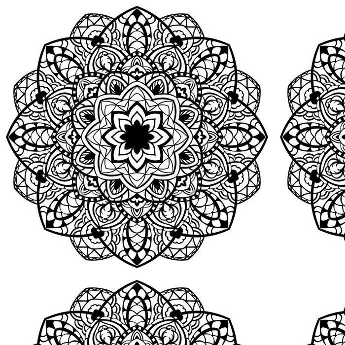 Tapeta Pixerstick Vector, abstraktní, detailní mandala. - Značky a symboly