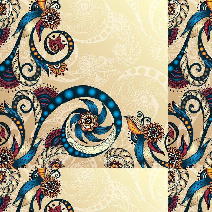 Tapeta Pixerstick Vector abstraktní květinové dekorativní pozadí. - Květiny