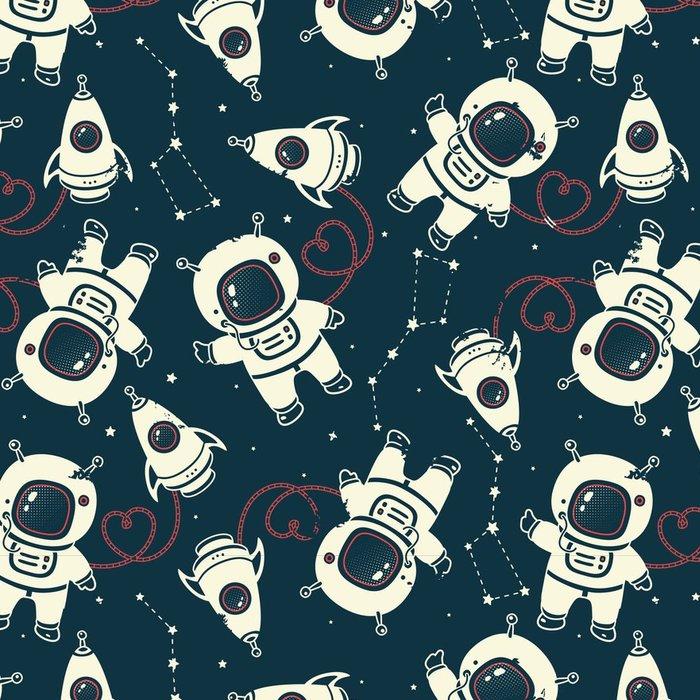 Tapeta Pixerstick Vector kosmonaut bezešvé vzor - Věda