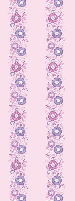 Tapeta Pixerstick Vector Purple Blossom Vertikální bezešvé podtisk - Květiny
