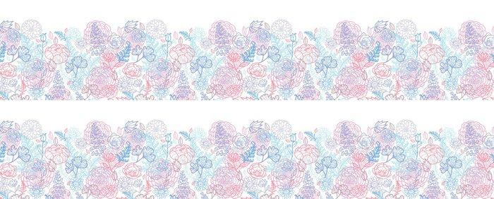 Vinylová Tapeta Vector ranní barvy květinový perokresby horizontální bezešvé - Prvky podnikání