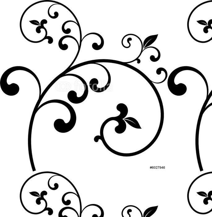 Vinylová Tapeta Vector set - dekorativní větev vektoru - Rostliny