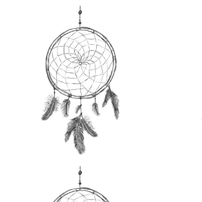 Tapeta Pixerstick Vector Sketch Indian Maskot Dream Catcher - Umění a tvorba