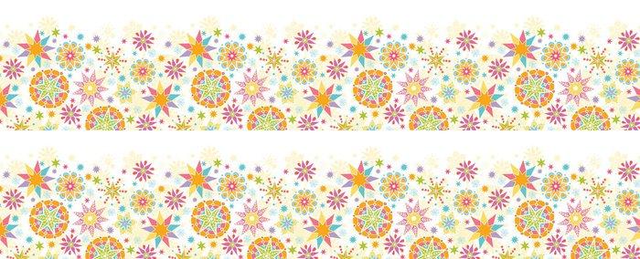 Vinylová Tapeta Vektor barevné vánoční hvězdy Horizontální bezešvé vzor - Témata