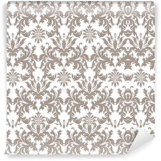 Vinylová Tapeta Vektor Barokní Vintage květinové damaškové vzorek. Luxury Classic ornament, Royal Victorian textury na tapety, textilního, tkaninou. barva hnědá