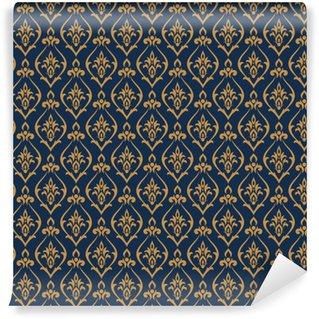 Vinylová Tapeta Vektor damask vzor. designový tisk pro tapety, textilní nebo balicí papír. abstraktní luxusní pozadí.
