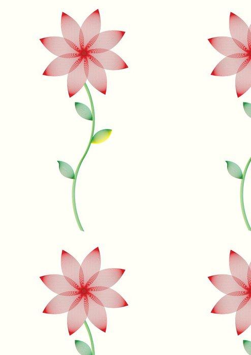 Tapeta Pixerstick Vektor květinovým vzorem - Květiny