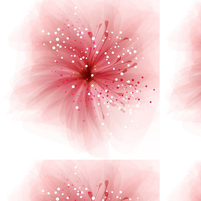Tapeta Pixerstick Vektor pozadí s květem - Pozadí
