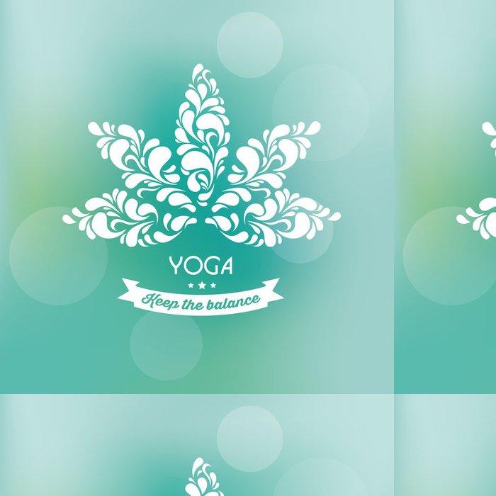 Tapeta Pixerstick Vektor pozadí s Lotus - okrasné Label - Životní styl, péče o tělo a krása