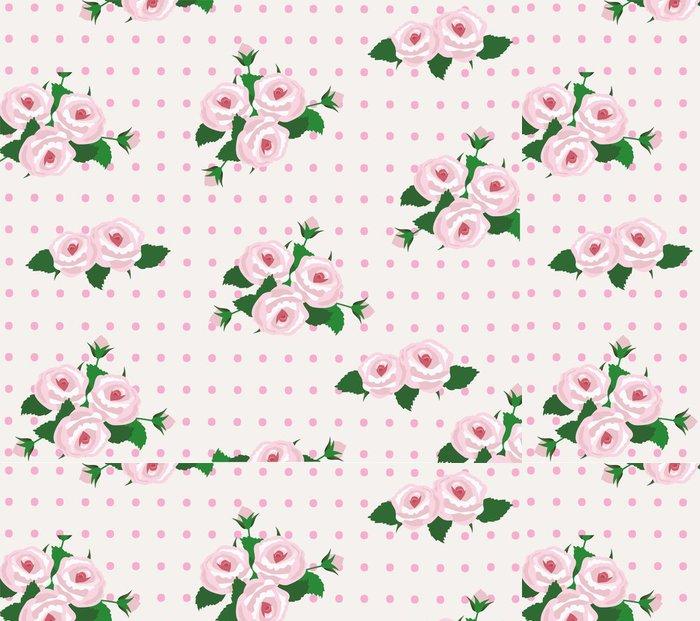 Tapeta Pixerstick Vektor růže bezešvé pozadí - Květiny