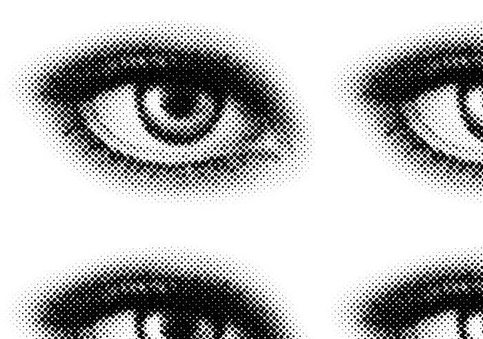 Tapeta Pixerstick Vektor tečky oko - Témata