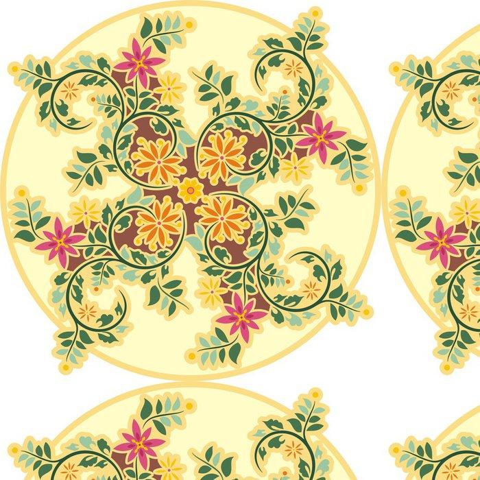 Vinylová Tapeta Vektor Vintage Circle Ornament - Květiny
