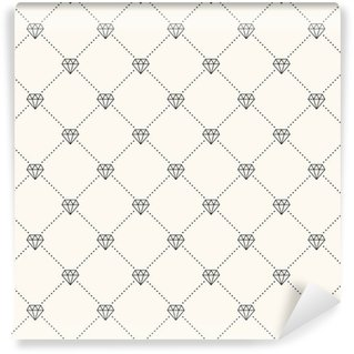 Tapeta Pixerstick Vektorové bezešvé retro vzor, s diamanty.