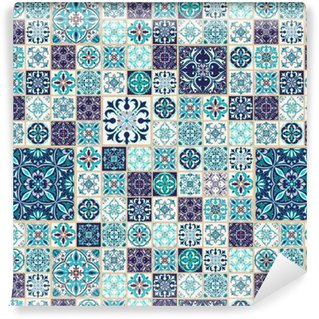 Vinylová Tapeta Vektorové bezešvé textury. Krásná patchwork vzor pro design a módu s dekorativními prvky