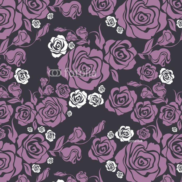 Tapeta Pixerstick Vektorové bezešvé vinobraní květ růže vzor - Pozadí
