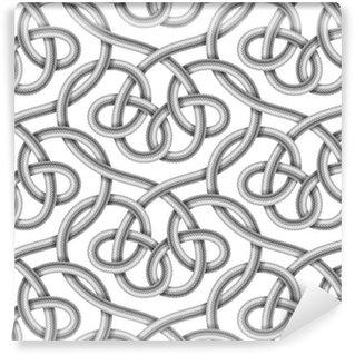 Vinylová Tapeta Vektorové bezešvé vzor pletené kabelu
