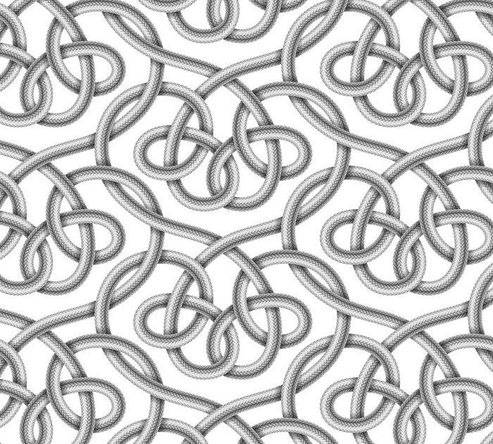 Vinylová Tapeta Vektorové bezešvé vzor pletené kabelu - Grafika