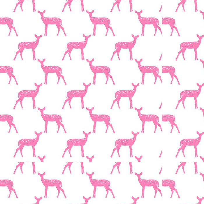 Vinylová Tapeta Vektorové bezešvé vzor s jeleny - Styly