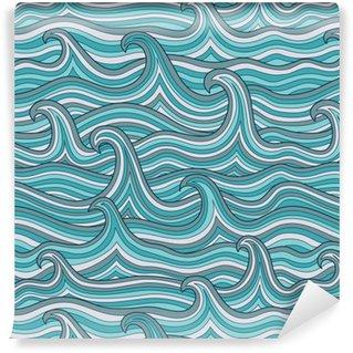 Vinylová Tapeta Vektorové bezproblémové abstraktní vzor, vlny