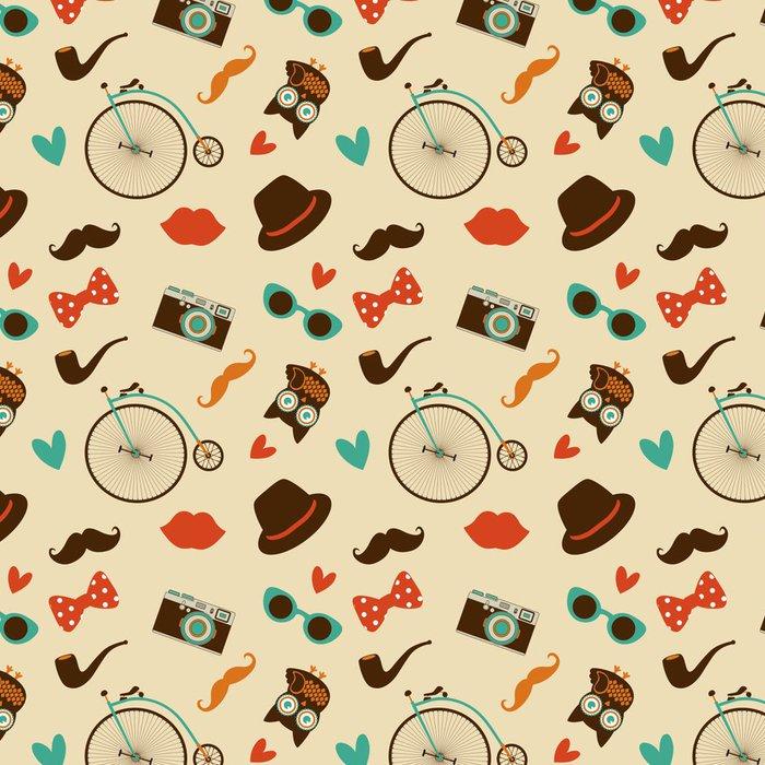 Tapeta Pixerstick Vektorové Hipster Doodles barevné bezešvé vzor, pozadí - Pozadí
