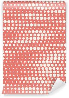 Tapeta Pixerstick Vektorové ilustrace bezešvých půltón pozadí v červené pastelových barvách