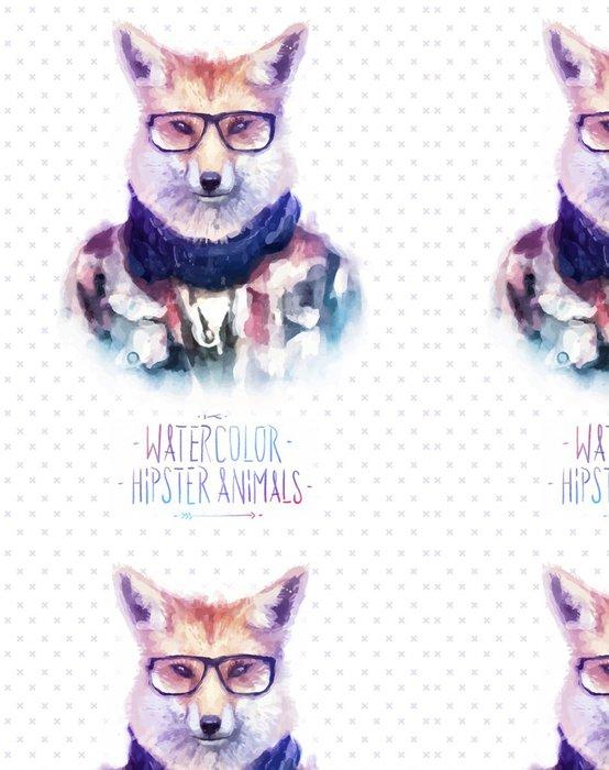 Vinylová Tapeta Vektorové ilustrace červená liška portrét ve slunečních brýlích a - Umění a tvorba