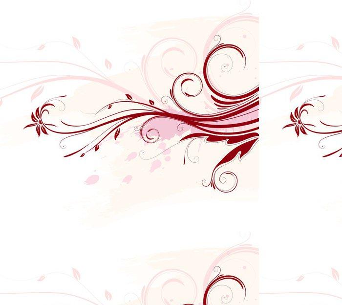 Tapeta Pixerstick Vektorové ilustrace červené grunge květinové pozadí - Rostliny