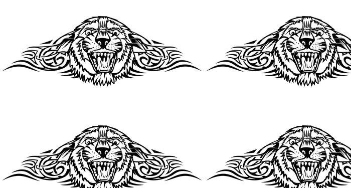 Tapeta Pixerstick Vektorové ilustrace hlavy tygra se vzory - Umění a tvorba