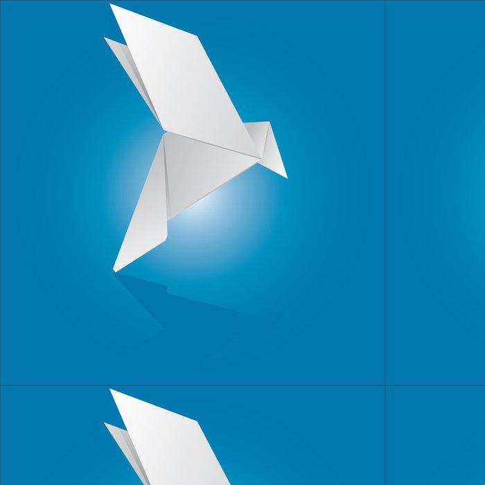 Vinylová Tapeta Vektorové ilustrace origami holubice - Ekologie