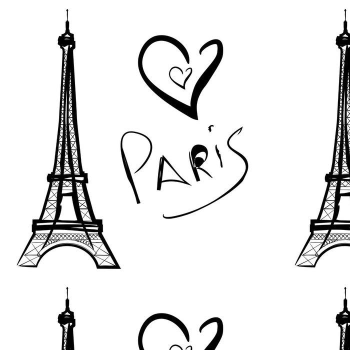 Tapeta Pixerstick Vektorové ilustrace Paříž, Eiffelova věž - Infrastruktura