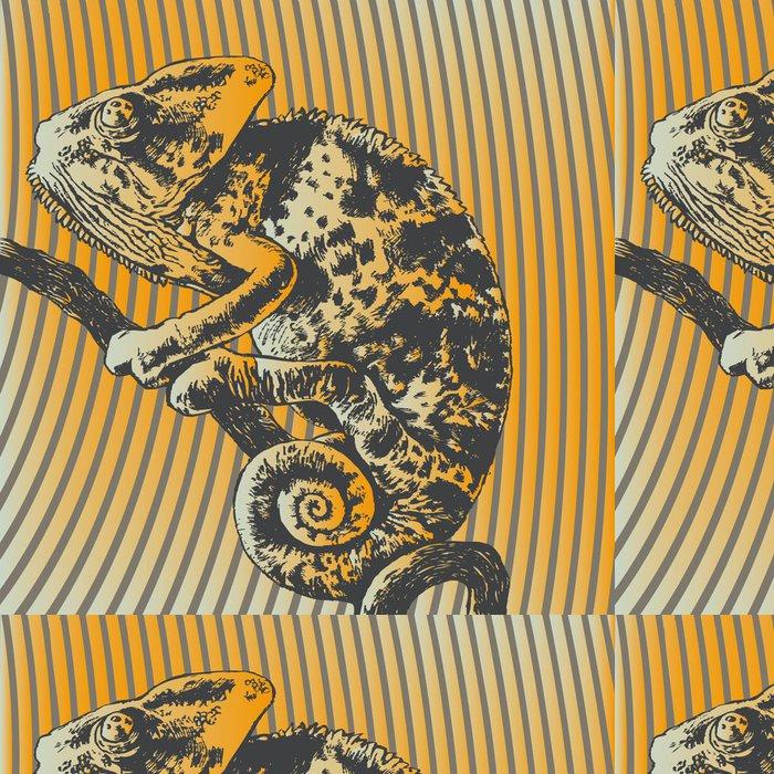 Tapeta Pixerstick Vektorové ilustrace s chameleon - Témata