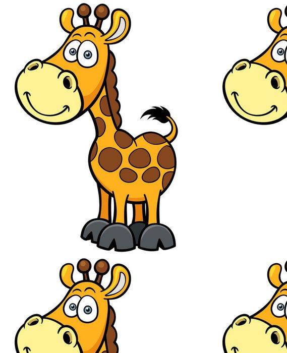Tapeta Pixerstick Vektorové ilustrace žirafa karikatura - Nálepka na stěny