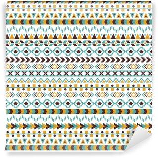Vinylová Tapeta Vektorové kmenové aztécké bezproblémové vzorek