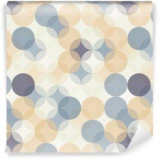 Vinylová Tapeta Vektorové moderní bezešvé barevné geometrie vzor kruhy, barevné abstraktní geometrické pozadí, tapety tisk, retro textura, bederní módní návrhářství, __