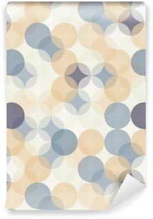 Tapeta Pixerstick Vektorové moderní bezešvé barevné geometrie vzor kruhy, barevné abstraktní geometrické pozadí, tapety tisk, retro textura, bederní módní návrhářství, __