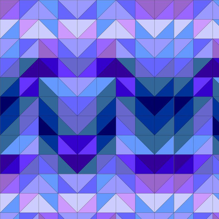Tapeta Pixerstick Vektorové modrý trojúhelník na pozadí moderní abstraktní vzor - Pozadí