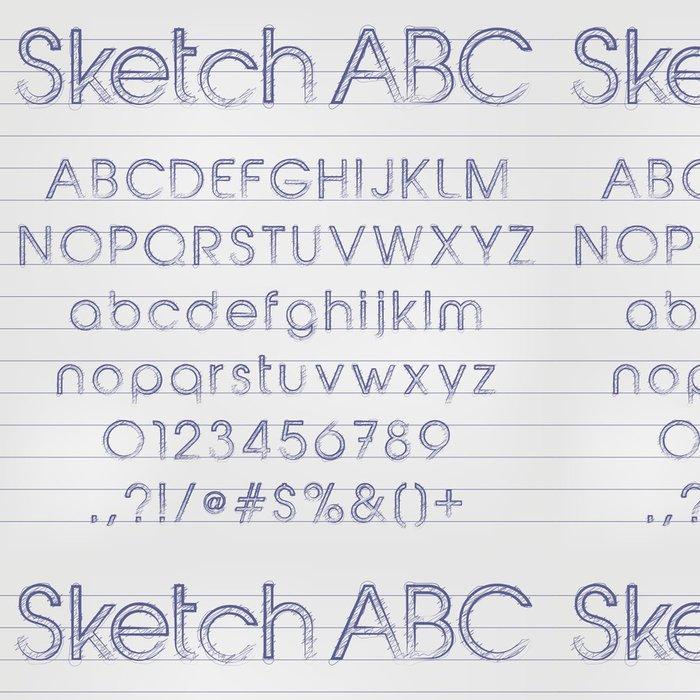 Tapeta Pixerstick Vektorové nakreslil abecedy - Prvky podnikání