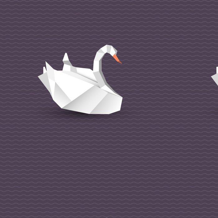 Tapeta Pixerstick Vektorové origami labuť - Asie