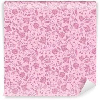 Vinylová Tapeta Vektorové siluety květy fialové elegantní bezešvé vzor