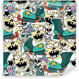 Vinylová Tapeta Vektorové vzorové šablony. bláznivý zombie
